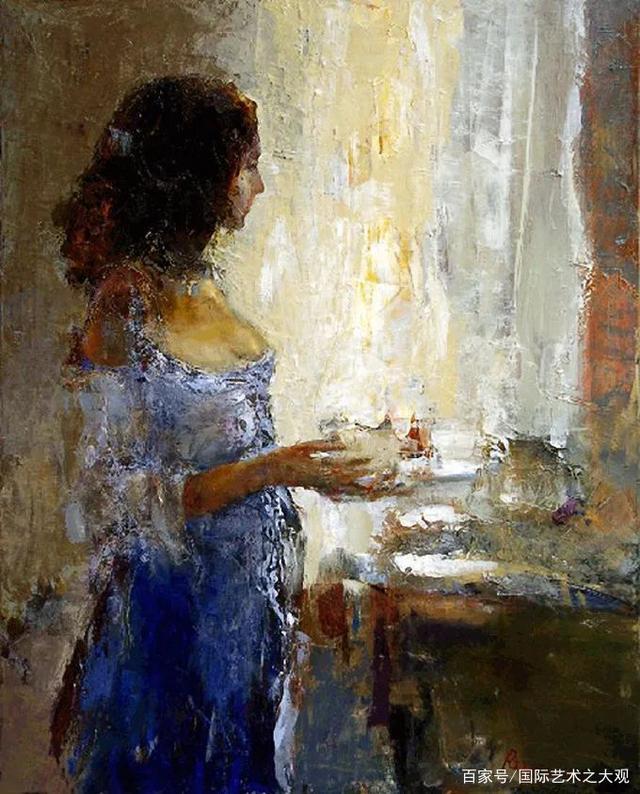 抽象风格  乌克兰画家谢尔希的油画