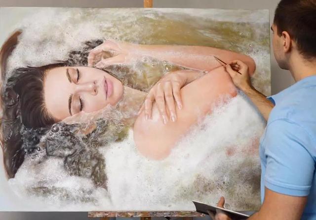 乌克兰画家用素描画少女,效果赶超冷军!