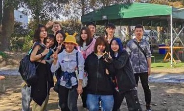 乌克兰国立技术大学预科在杭州丽晶都市村开展了户外团建活动
